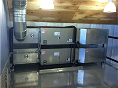 Bryant split system fan coil units at Caesars Creek Winery in Xenia OH